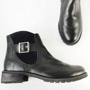 Timberland Eco-friendly Leather Moto Lug Boots 7.5